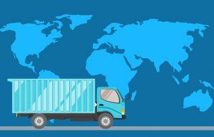 משאית של חברת הפצה
